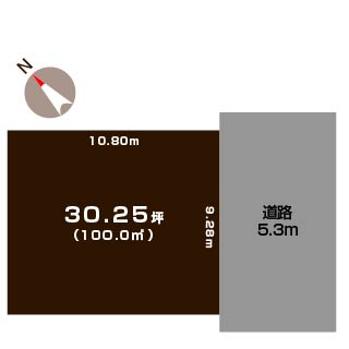 新潟市東区太平の土地の敷地図