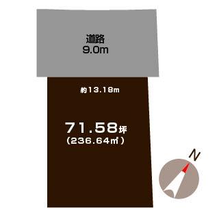 新潟市北区柳原の土地の敷地図
