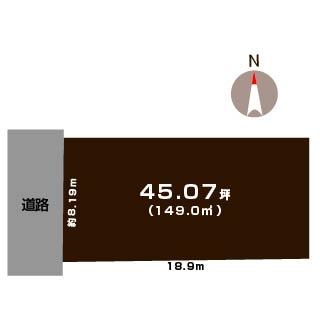 新潟県江南区北山の土地の敷地図