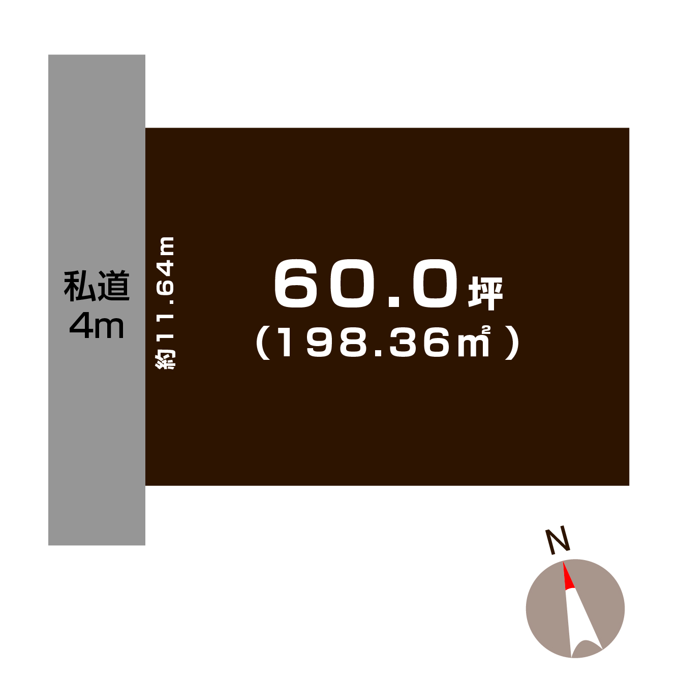 長岡市美沢の土地の敷地図(敷地図)