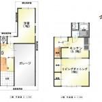 新潟市中央区本馬越の中古住宅の間取り図