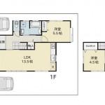 長岡市上除町の中古住宅の写真(間取)