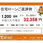 新潟市西区五十嵐2の町の中古住宅の住宅ローン返済例