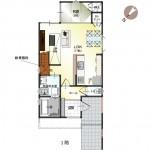 新潟市秋葉区小須戸の土地の建物プラン例(2階平面図)