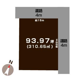 新潟市秋葉区新栄町の土地の敷地図
