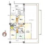 新潟市中央区上所の中古マンションの間取図