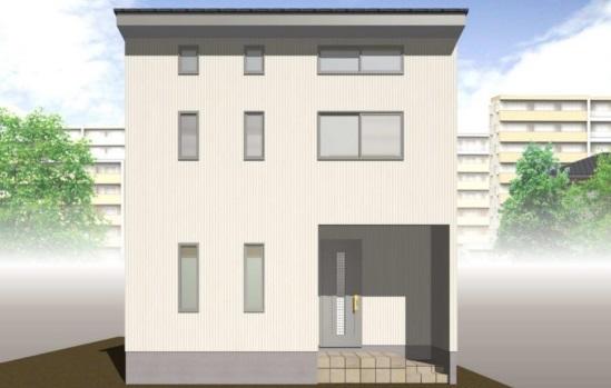 三条市栗林の新築住宅の外観パース
