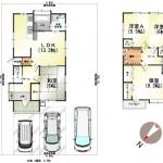 新潟市北区柳原の中古住宅の間取り図