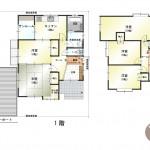 新潟市江南区曙町の中古住宅の間取り図
