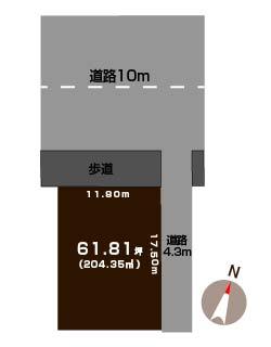 新発田市本町の土地の敷地図
