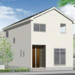 新潟市北区つくし野の新築住宅の外観完成予定パース