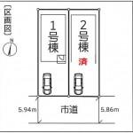 新潟市秋葉区車場の新築住宅の全体区画図