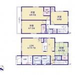 新潟市江南区早通の新築住宅の間取り図