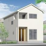 新潟市江南区横越川根の新築住宅の外観完成予定パース
