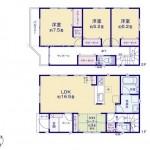 新潟市中央区有明大橋の新築住宅の間取図