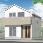 新潟市西区真砂町の新築住宅の外観完成予定パース