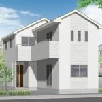 新潟市江南区早通の新築住宅の外観完成予定パース