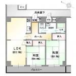 新潟市中央区信濃町の中古マンションの間取図
