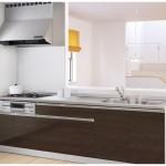 新潟市北区つくし野の新築住宅のキッチン完成予想図※実際の施工とは多少異なる場合があります。
