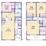 新潟市秋葉区車場の新築住宅【1号棟】の間取り図