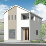 新潟市秋葉区車場の新築住宅の外観完成予定パース