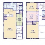 新潟市秋葉区車場の新築住宅の間取り図