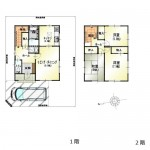 新潟市北区須戸の中古住宅の間取り図