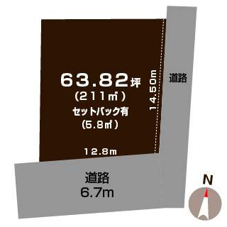 新潟市江南区楚川の【土地】不動産情報の敷地図