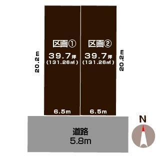 新潟市江南区曽野木の【土地・分譲地】不動産情報の敷地図