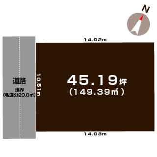 新潟市西区寺尾の【土地】不動産情報の敷地図