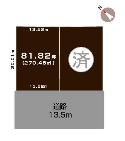 新発田市藤塚浜Aの【土地】の敷地図