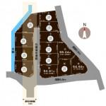 三条市嘉坪川の土地の敷地図