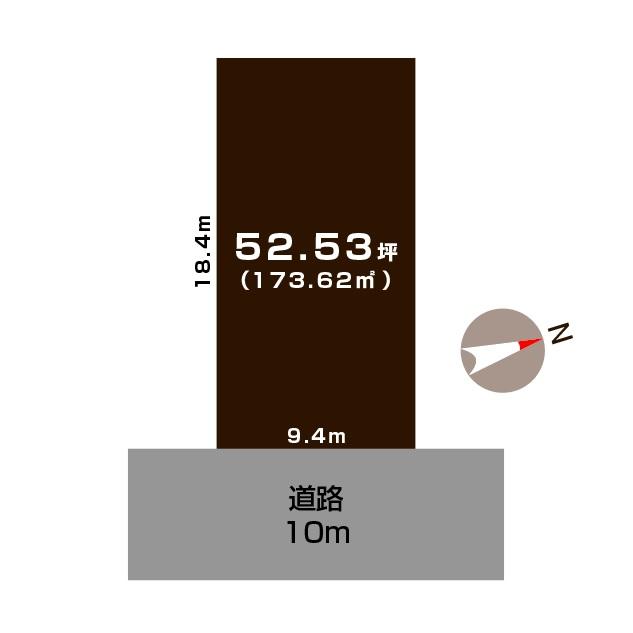 燕市東太田の土地の敷地図