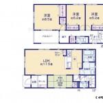 新潟市東区物見山の新築住宅の間取り図《4号棟》