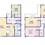 新潟市東区山木戸5丁目の新築住宅の間取り図