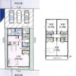 新潟市西区小針南の【中古住宅】不動産情報の間取図