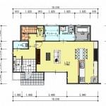 新潟市北区松浜新町の土地の建物プラン1階間取図