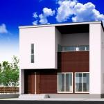 長岡市下山の建物プラン例(区画2)の外観