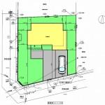 新潟市北区松浜新町の土地の建物プラン配置図