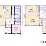 新潟市中央区鳥屋野の新築住宅の間取図