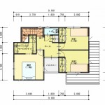 新潟市北区松浜新町の土地の建物プラン2階間取図