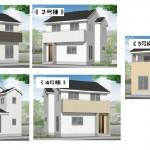 新潟市中央区鳥屋野の新築住宅の外観完成予定パース