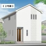 新潟市江南区亀田中島の新築住宅の外観完成予定パース