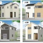 新潟市東区物見山の新築住宅の外観完成予定パース