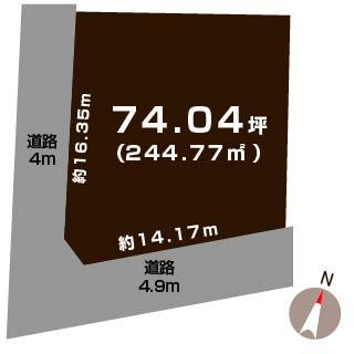 新潟市北区松浜新町の【土地】不動産情報の敷地図
