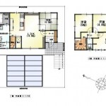 新潟市西区五十嵐東の中古住宅の間取り図