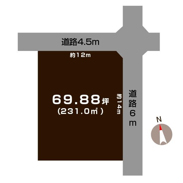 燕市分水弥生町の土地の敷地図