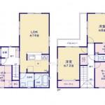新潟市中央区姥ケ山の新築住宅の間取り図