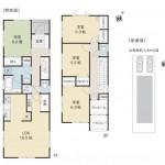 新発田市豊町の新築住宅1号棟の間取り図