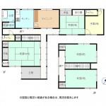 三条市中新の中古住宅の間取図